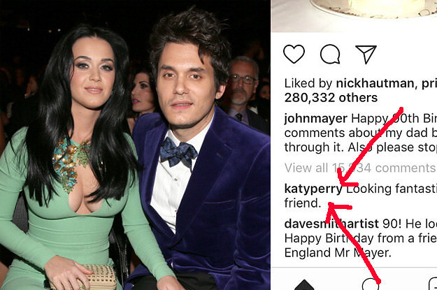 Katy Perry Just Commented On John Mayer's Instagram ...