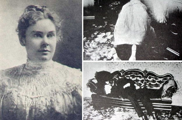 Lizzie Borden's page scares the crap out of me. Not only is the story of what she did so twisted and inconsistent, but the pictures of her literally look hellish.—m40957e3b9