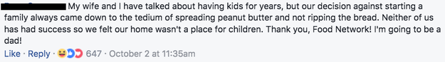 Thanks to peanut butter squares, this loving husband and wife can finally have kids!