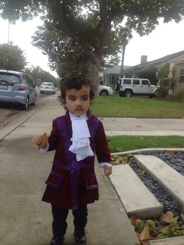 My kid as Prince at 2 years old. I had to apply the makeup while he was sleeping.—reenav