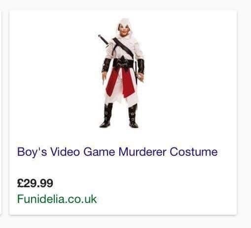 Do you want to look like someone who murders boys' video games? Now's your chance!