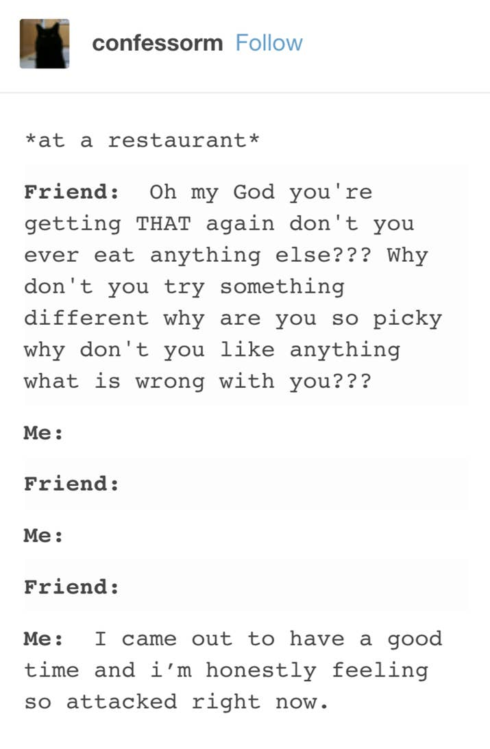 times the internet nailed what being a picky eater is actually like most of your friends don t understand your refined palette