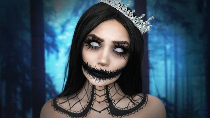 We're getting major Nightmare Before Christmas meets Addams Family vibes from this, and we love it. Here's the tutorial.