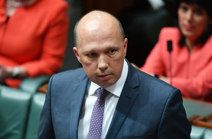 The minister for immigration Peter Dutton.