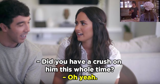 First, Demi revealed that she'd had a crush on Joe Jonas the whole time they were filming Camp Rock.