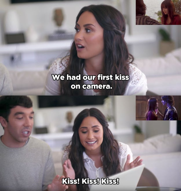 Demi also revealed that she and Joe had their first kiss on camera, although that didn't happen until Camp Rock 2.