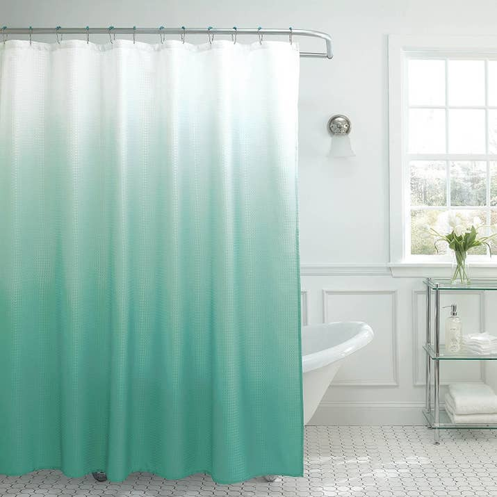 This Curtain Comes With 12 Metal Hooks And Is Best Used A Shower Liner