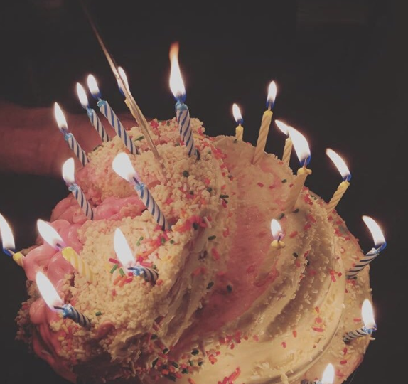 The thing about this cake that makes it even more *special* is that Lady Gaga made this cake.