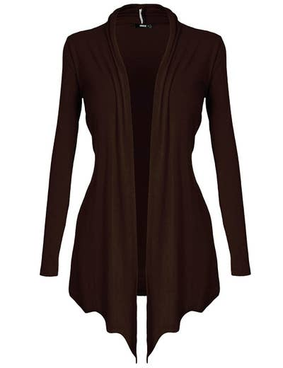 An open-front cardigan perfect for layering over any outfit. Hello, you must-have basic for every wardrobe, you.