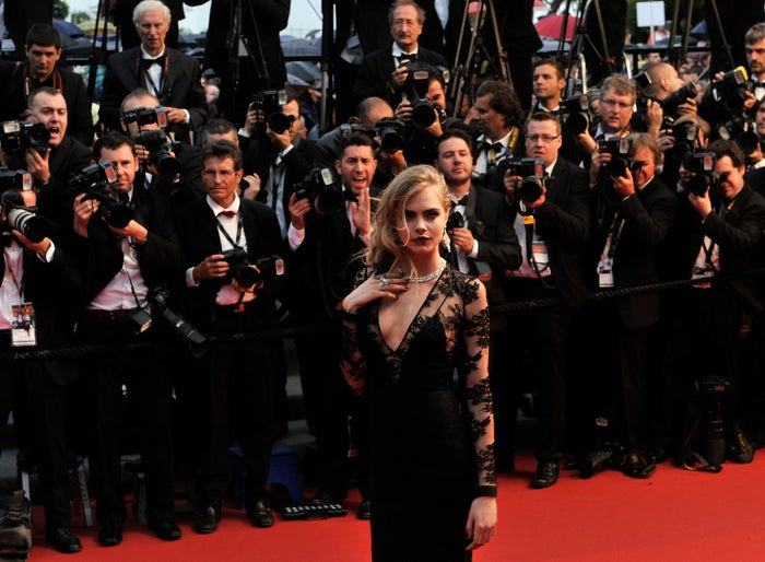 Cara Delevingne attends the opening ceremony of The Great Gatsby Premiere during the 66th Annual Cannes Film Festival.