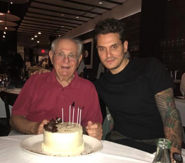 John Mayer celebrated his dad's birthday.