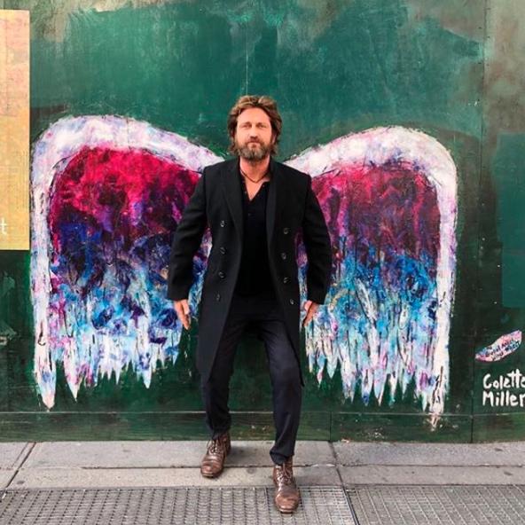 Gerard Butler grew wings.