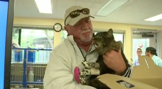 Ratliff was reunited with Milo — the only piece of his old life that survived the fire.