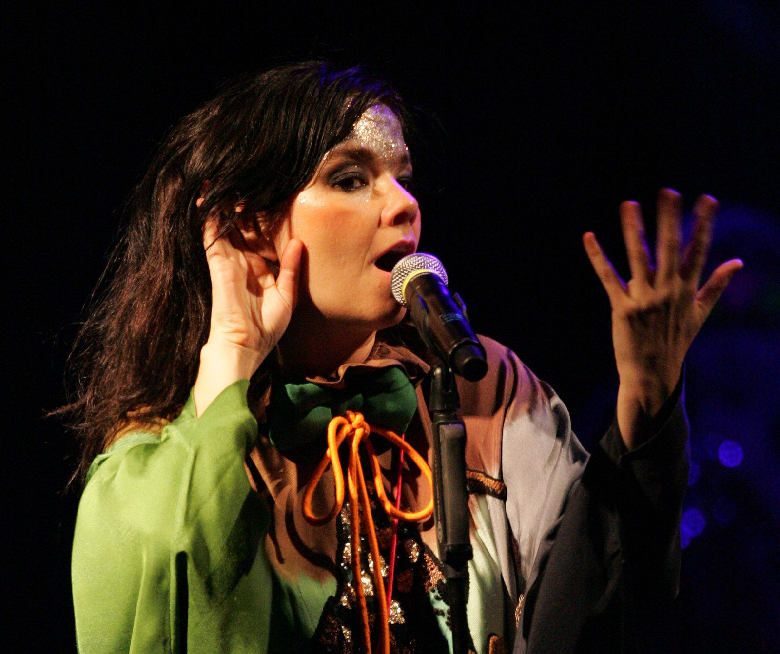 Björk performs at the National Museum in Lima, Tuesday, Nov. 13, 2007.