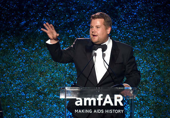 On Friday night, James Corden hosted the American Foundation for AIDS Research (amfAR) gala in Los Angeles.