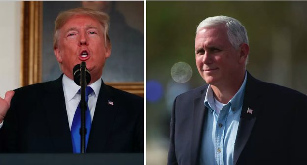 """A New Yorker piece published Mondaysays President once joked about Vice President Mike Pence wanting to """"hang"""" all gay people."""