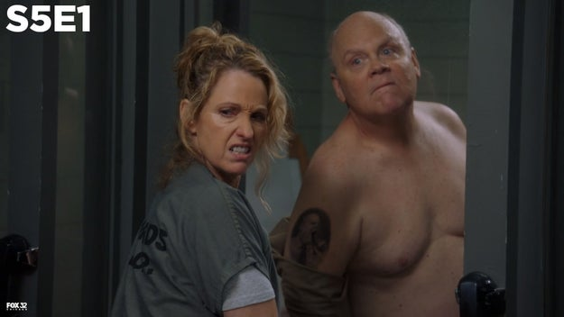 On the Season 5 premiere of Brooklyn Nine-Nine, Hitchcock takes off his shirt, revealing a tattoo of himself with a gun in his mouth...
