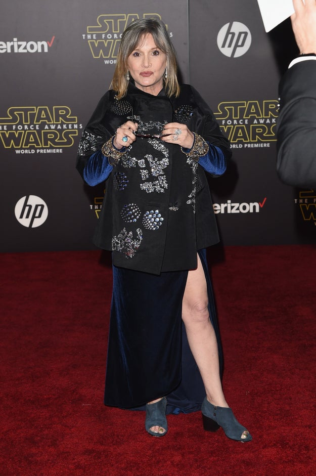 As you probably already know, Carrie Fisher was a give-no-fucks legend.