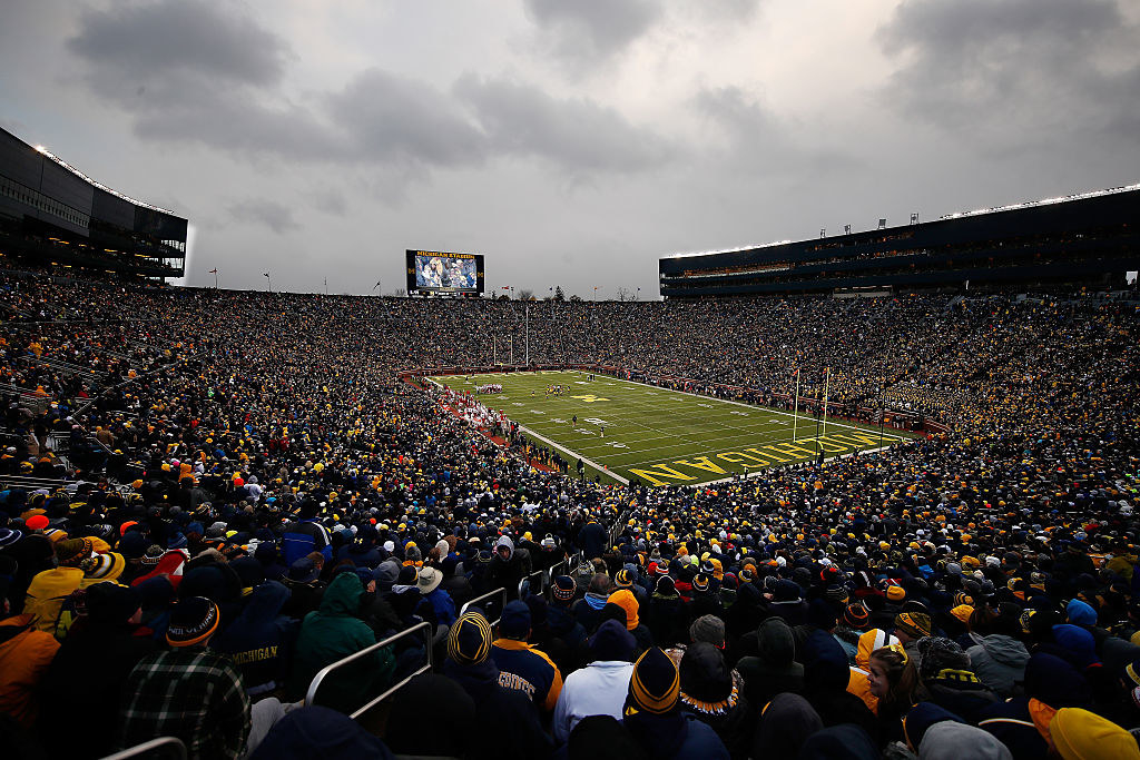 Michigan Stadium can seat more than 107,000 people — that's even more than the largest stadium in ALL OF EUROPE, Camp Nou. What???