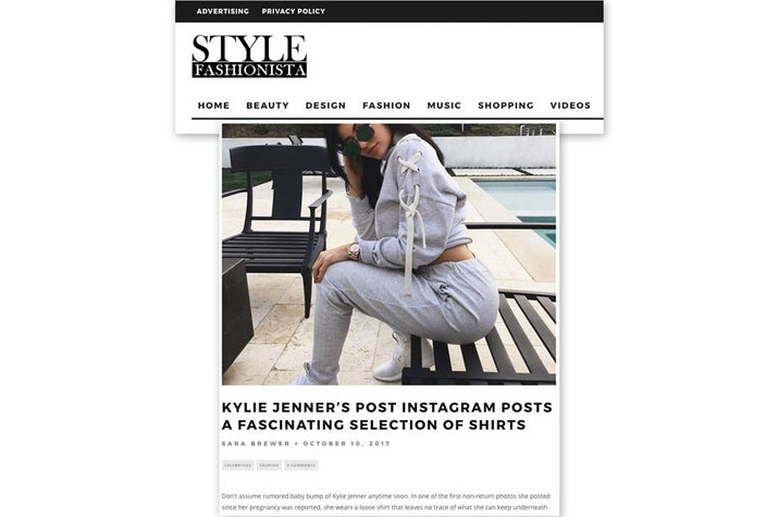 A screenshot of StyleFashionista.com