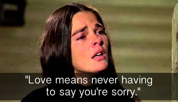 When Jenny had some interesting ideas about how love works in Love Story.