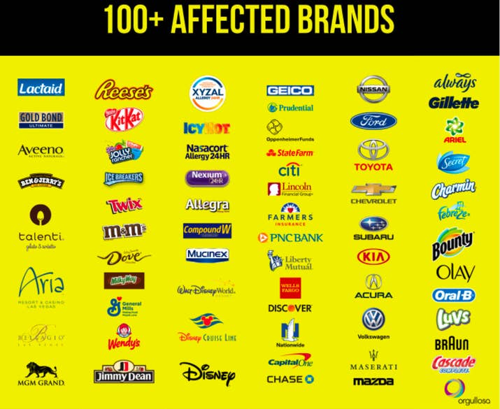 Ads for major brands were fraudulently displayed on approximately 40 websites.