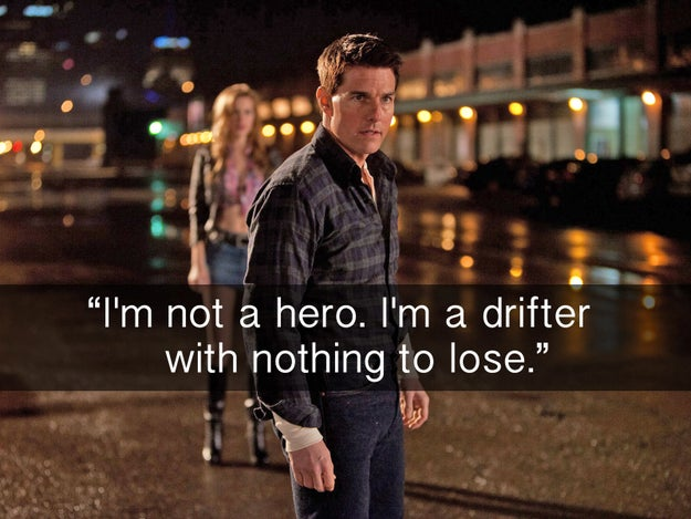 When we were blessed with a little bit of character exposition in Jack Reacher.