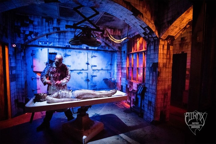 "Any Wednesday through Sunday of October or through the first weekend of November in Leeds, Alabama can guarantee you to get yourself scared. Atrox Factory is a 50,000 sq. ft. building with a quarter-mile path of ""twisted hallways and shocking surprises."" $20 (cash only) gets you into ""one of the best places to scare the crap out of yourself in all 50 states (Thrillist.com)."" Atrox Factory's Twitter provides updates with special events and promotions throughout the scare season."