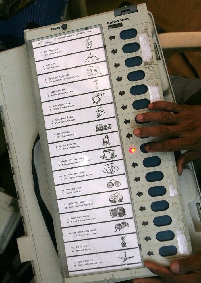 これが投票マシン。分かりやすい!