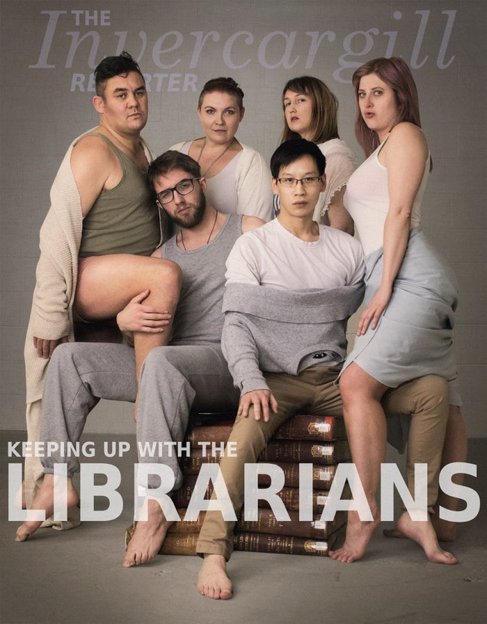 """We decided the boys needed to be in the most sexualised positions, for both humour and to show how silly it would be to pose males like that,"" she said. ""The girls just went with who had the most accurate clothing to match those people.""She added that the books the librarians are sitting on are old dictionaries from the library's archive because they ""thought it would be funny to include a wee librarian touch."""