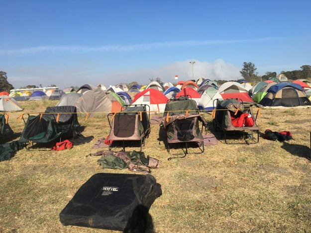 When they finish their grueling shifts, most come to pass out at base camp, aka tent city. There are nearly 3,750 personnel fighting fires in Sonoma County, so it literally is a city complete with all of the comforts of home including, bathrooms, showers, laundry, kitchens...except everything is ~basic~.