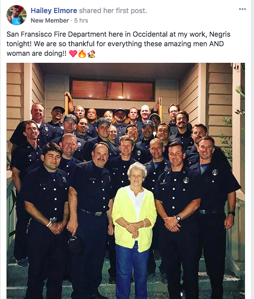 """So thankful for everything these amazing men AND Women are doing,"" this woman posted."