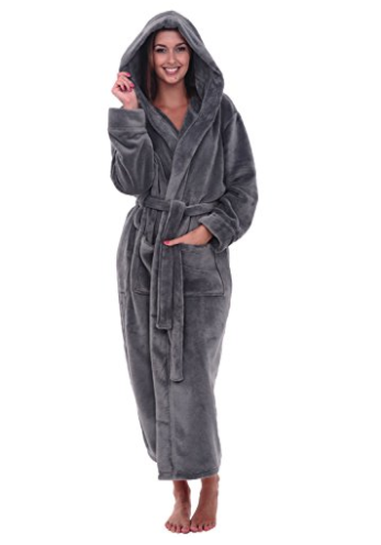 This ultra-soft hooded robe that s perfect for cozying up and hiding away. 2b277ab90