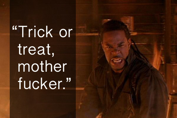 When Freddie decided to stand up to Michael Myers in Halloween: Resurrection.
