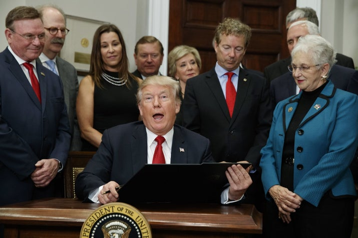 """""""I want to say strongly and clearly: I do not support this executive order. I had absolutely no clue he was adding all the onerous changes. I was duped, I am an idiot. I did not vote for Trump and I am not a Trump supporter. The President's executive order is bad for this region, our residents and our healthcare non-profits. I apologize to my employees, our customers and the community for being at the signing ceremony,"""" wrote Ratner."""
