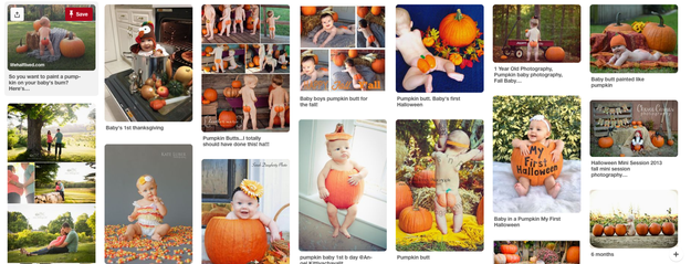 The idea has also exploded on Pinterest, where moms are even sharing tips to get the perfect shot.