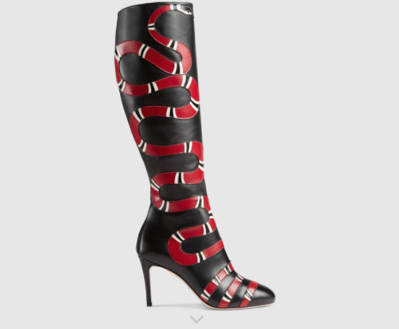 And the Gucci boots retail for $2,400, which is a pretty expensive way to make a statement.