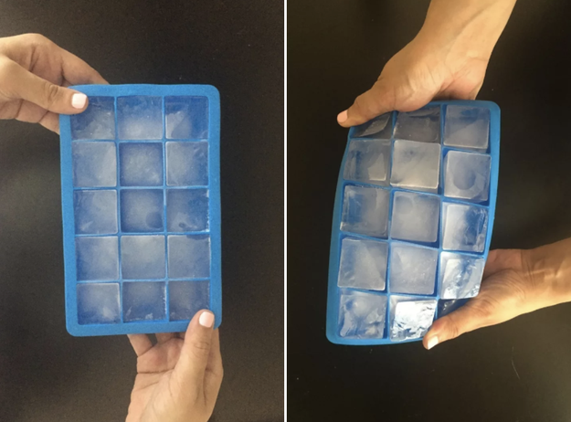 These bendable ice cube trays for plain ice...