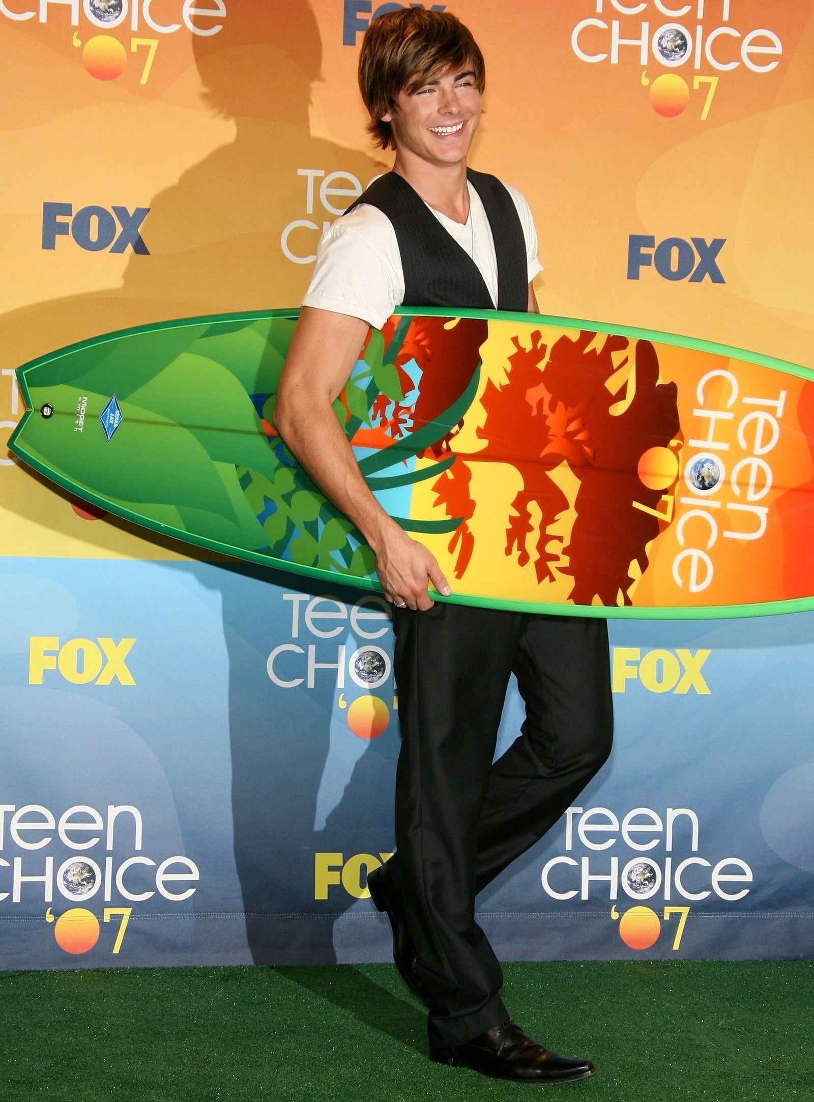 His early days of winning Teen Choice Awards.