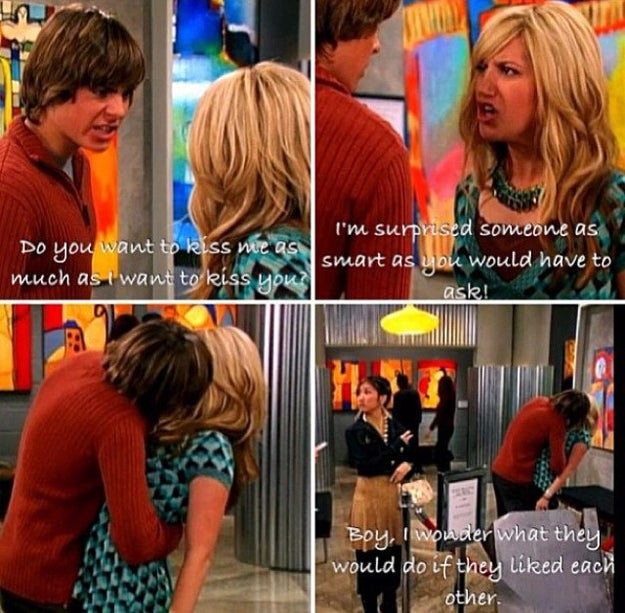His kiss with Ashley Tisdale on The Suite Life of Zack and Cody.