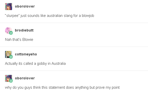 When everyone was confused about Australian blow jobs.
