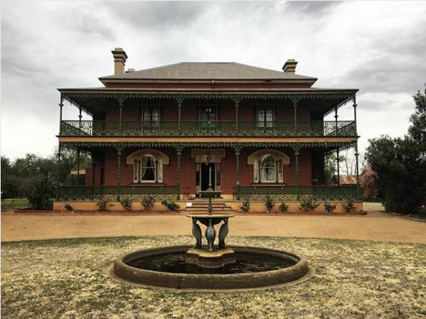 """The history: Known as """"Australia's most haunted house"""", the Monte Cristo homestead has had a macabre history that includes murder, torture, and suicide. In more recent times, a caretaker was shot dead in 1961 by a youth who claimed to be influenced by Psycho.Now: The Ryans, who purchased the homestead in the 1960s, are the current owners of Monte Cristo. Guests who have visited the home have reported seeing strange lights, feeling ghostly presences, and catching glimpses of the former lady of the house, Elizabeth Crawley."""