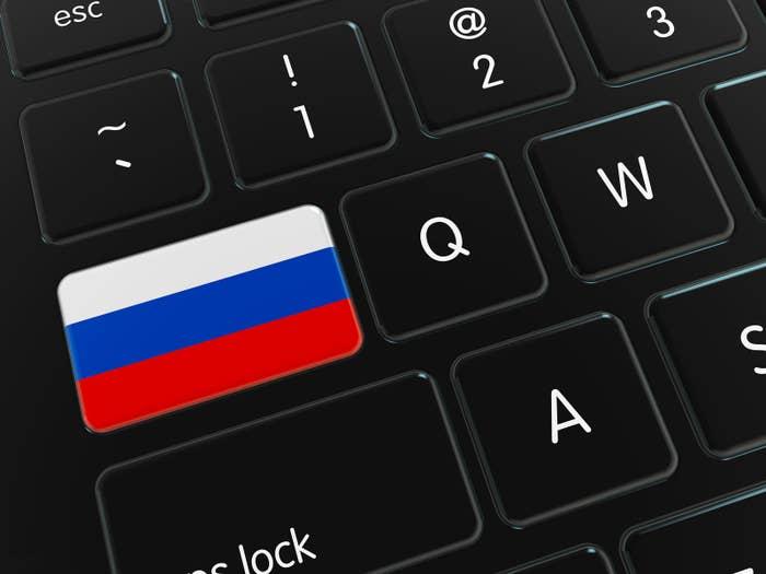 Flag on Computer Keyboard