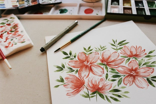 Practice art therapy, like painting, drawing, sculpting, or whatever you find soothing.