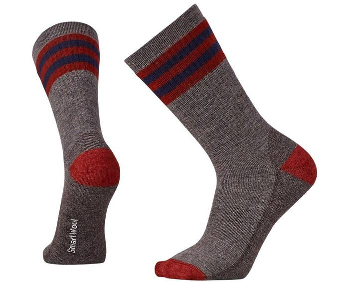 Enter promo code SMARTWOOL33 at checkout (max discount of $30).Get the striped hike light crew socks for $13.37 ($6.58 off the list price).