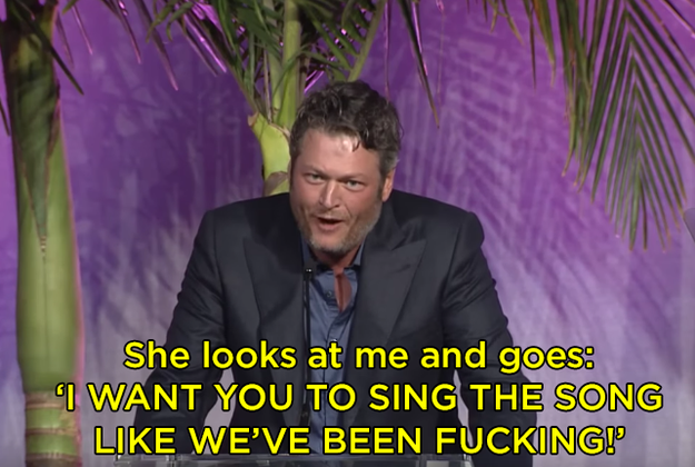 Finally, Blake said Kelly just came out and said what was missing: