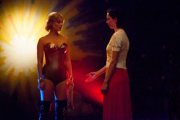 Olive and Elizabeth in Professor Marston and the Wonder Women.