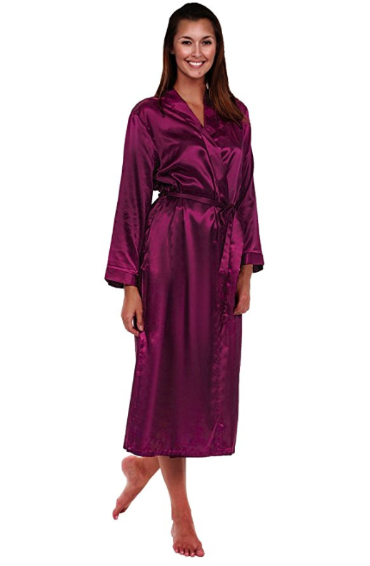 6612119ca6 This satin robe that s perfect if you just want something to wear while  getting ready in the morning.