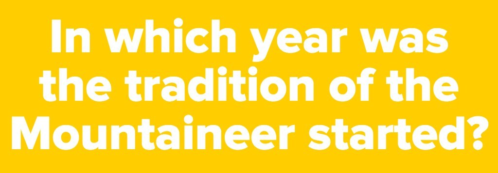 Are You An Expert On The WVU Mountaineer Mascot?
