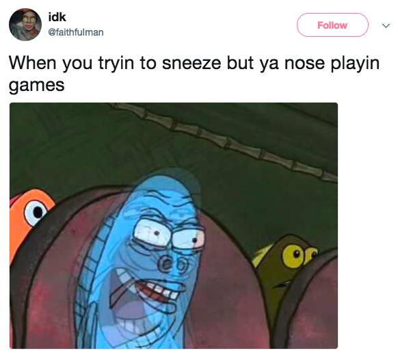 Sneeze dilemma: